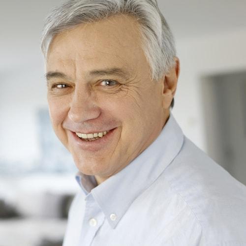 Dentist Edmonds WA - Image of man who has had dental implants