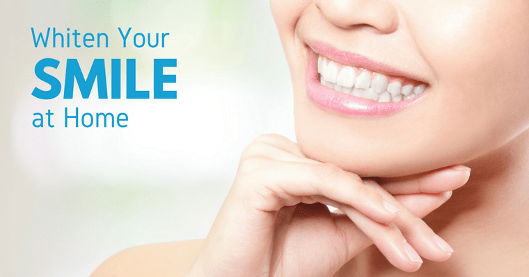 Get a more confident smile with at-home teeth whitening