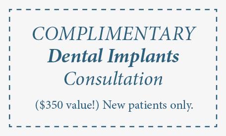 Complimentary Consultation for dental implants edmonds wa