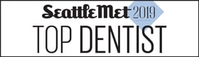 Dentist in Edmonds - Logo for Seattle Met Top Dentist 2019